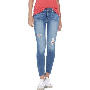 NWT Frame Le Skinny Jeans 28 Raw Hem Timber